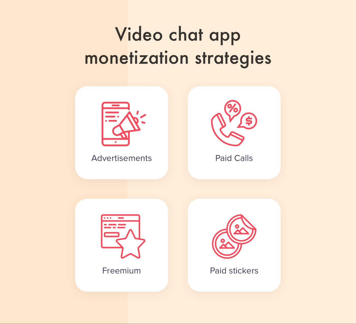 Video chat app development: monetization strategies