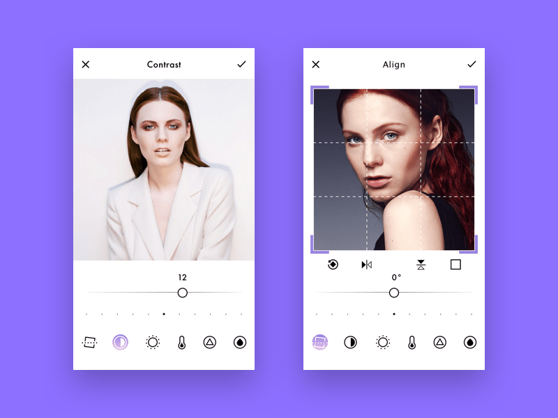 Photo editing app design concept by Cleverod