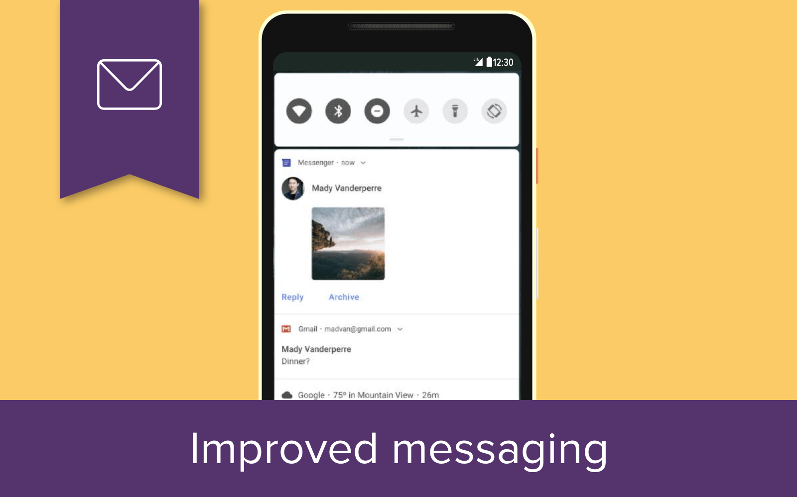 Android P 9.0: Improved messaging