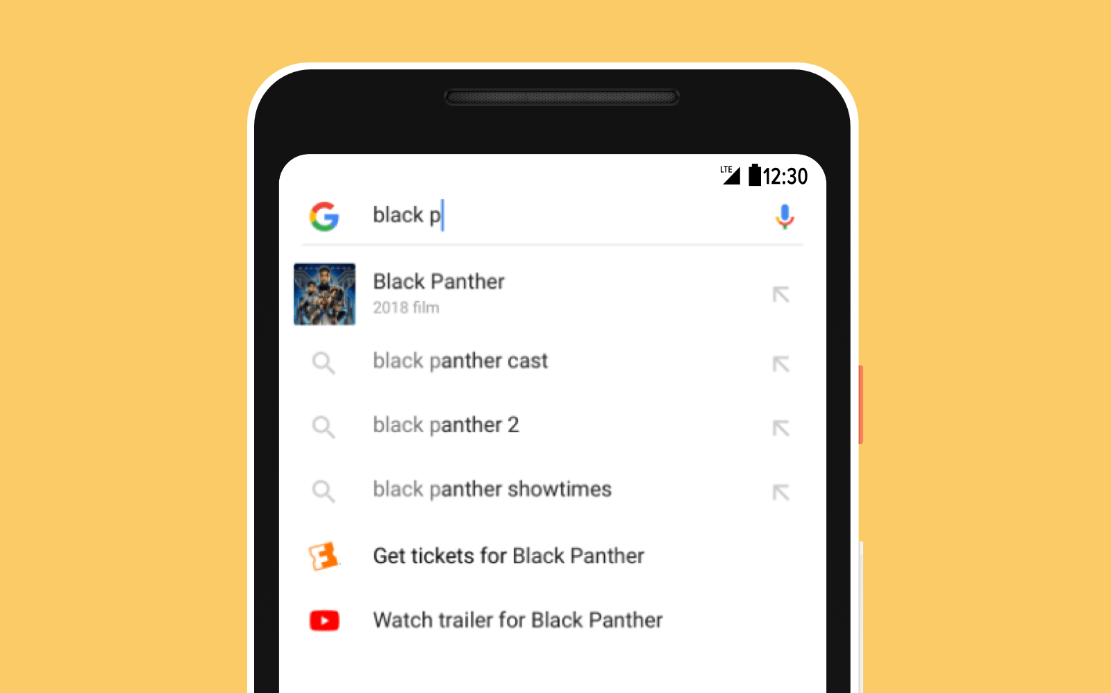 App actions suggestions during Google Search