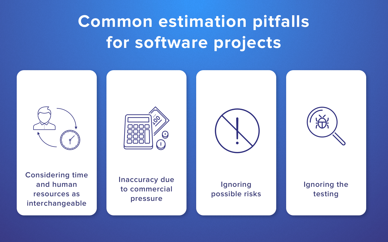 Common pitfalls in software development estimation