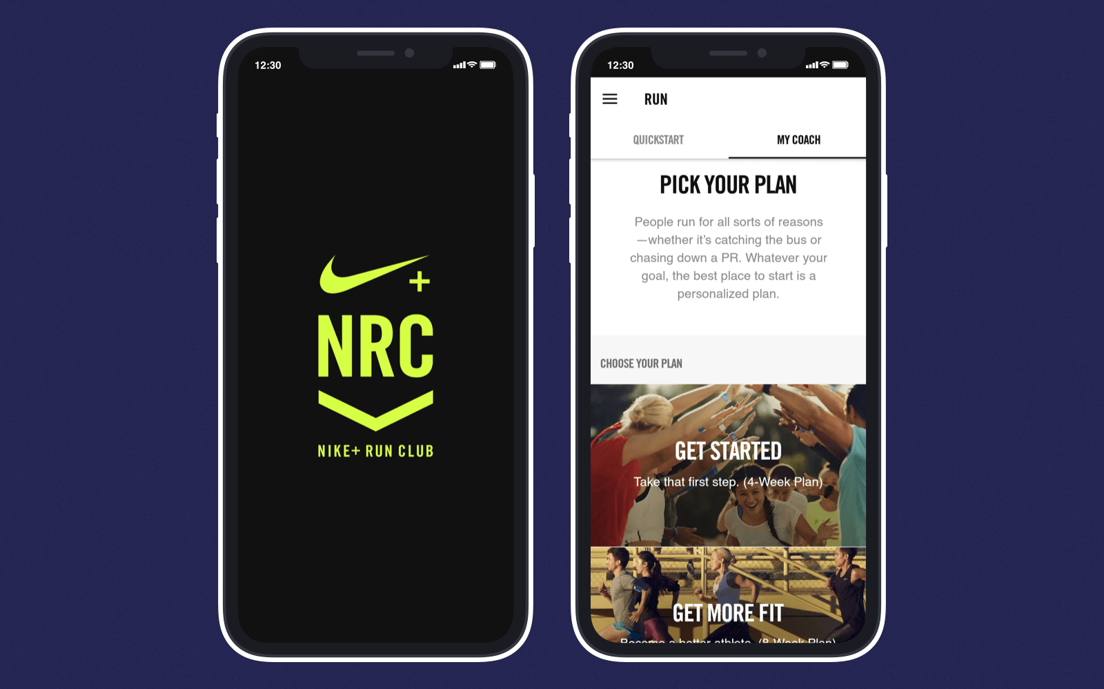 Nike Run Club is a personalized workout app