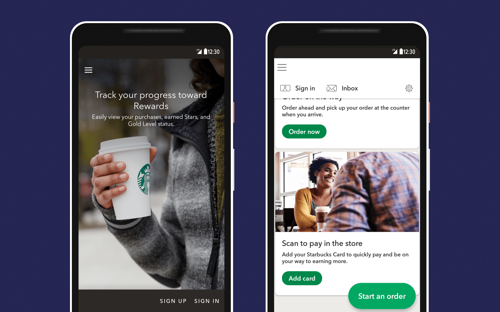 Starbucks is a personalized app that improves the Starbucks cafes experience