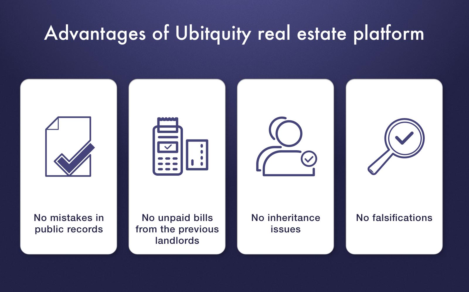 Ubitquity real estate blockchain project advantages