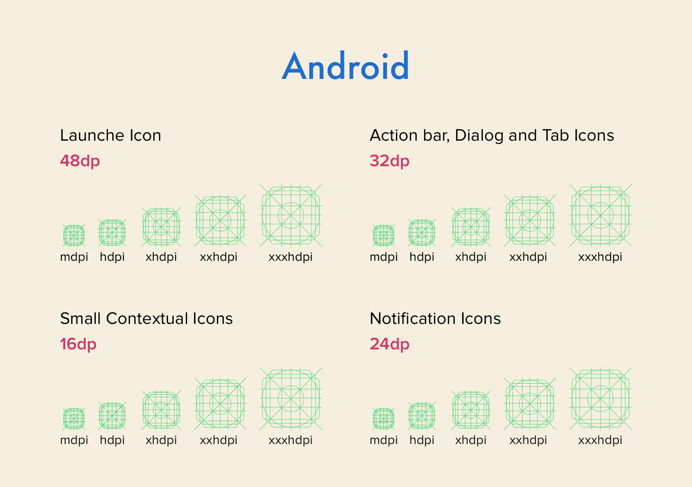Android grid for media assets