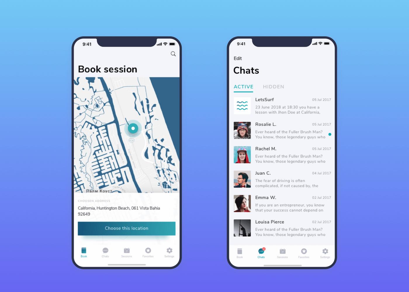 LetsSurf interface