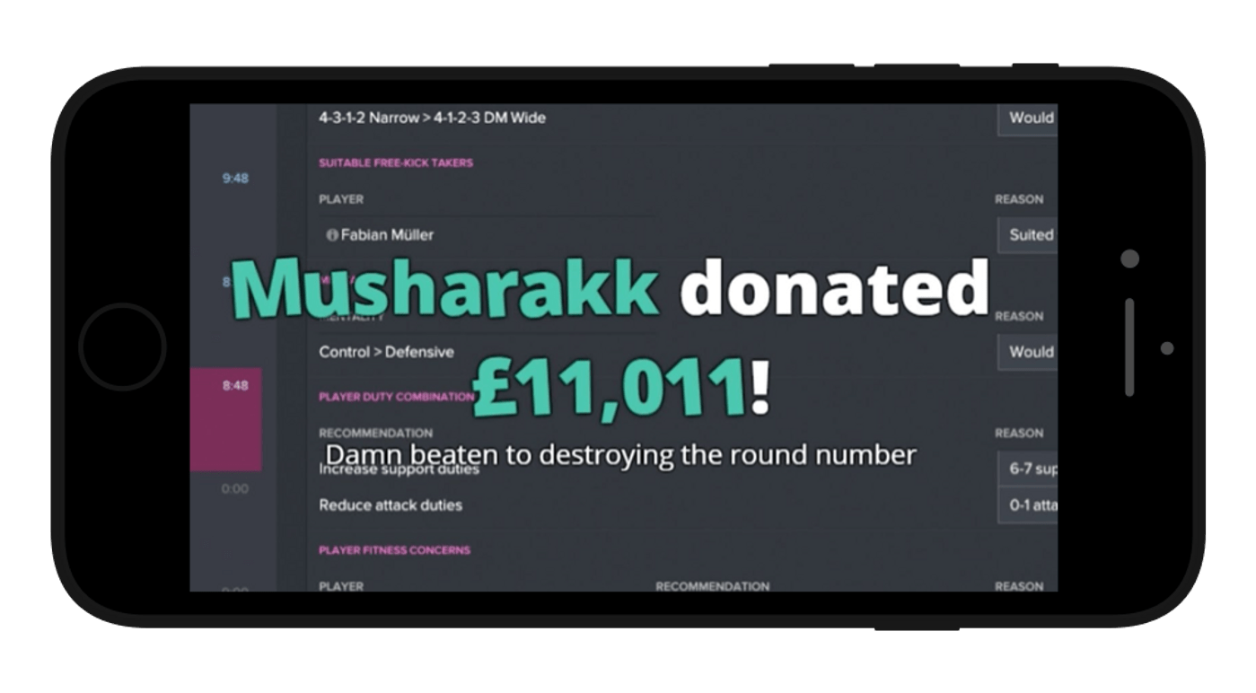 Donation system in live streaming apps
