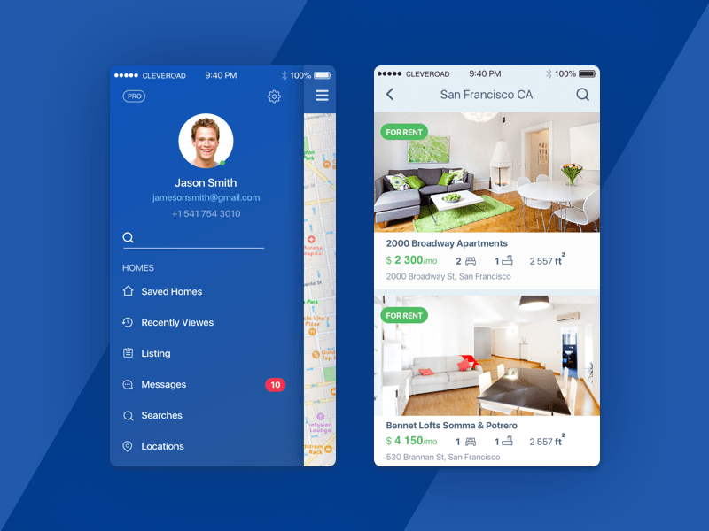 Design of a booking app by Cleveroad