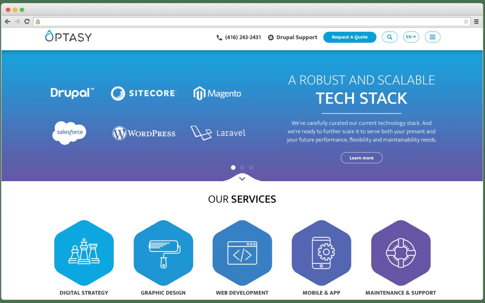 Top software development companies in Toronto: OPTASY