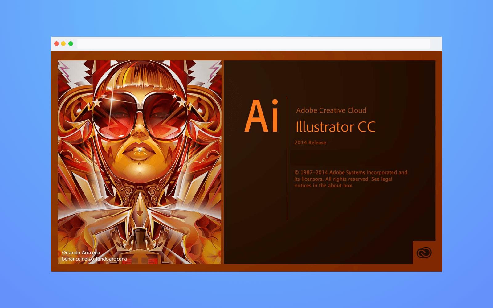 Adobe splash screen