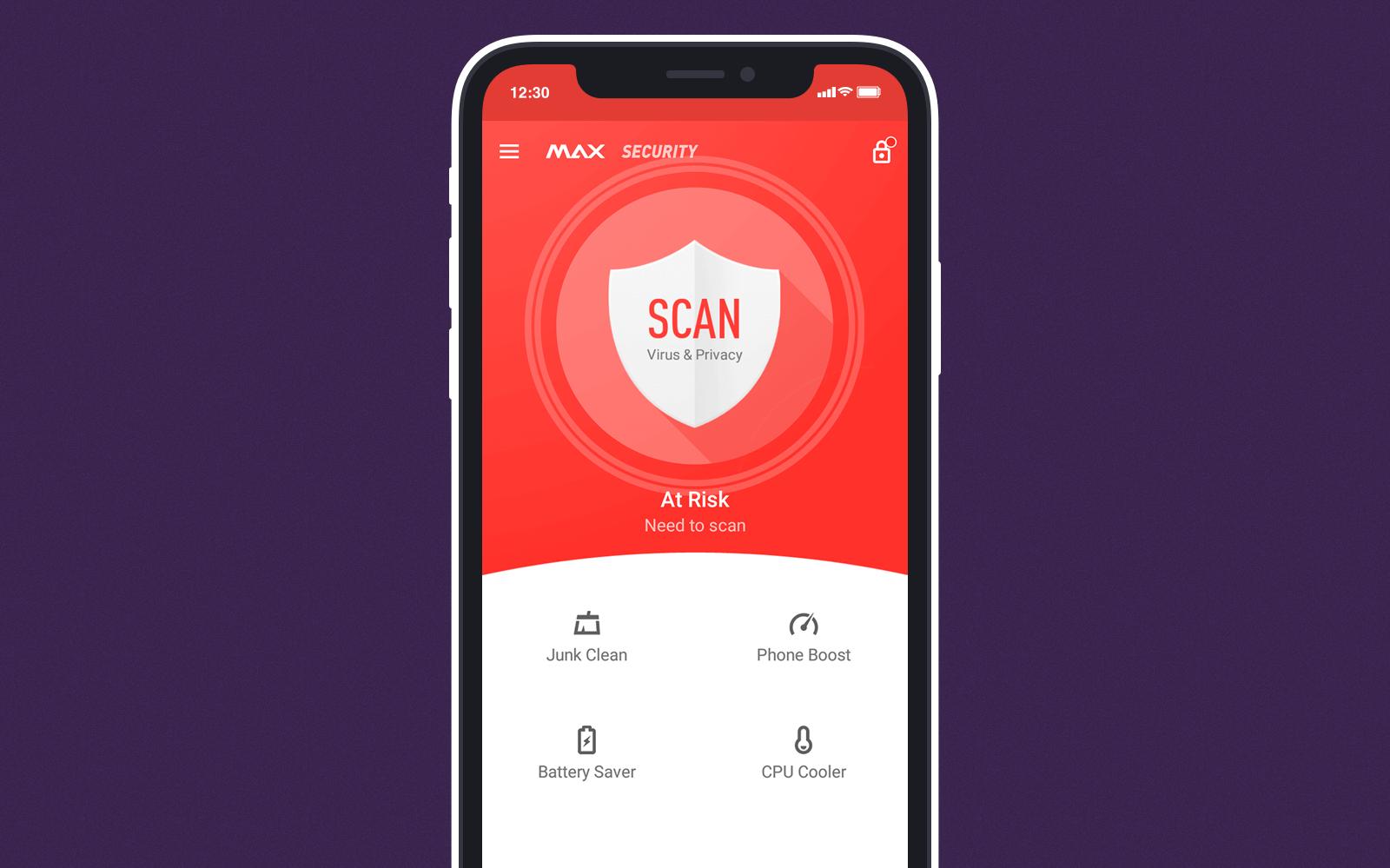 Antivirus in phone cleaner app