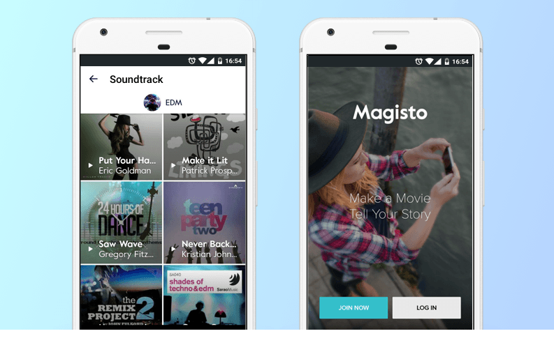 Magisto app like vine