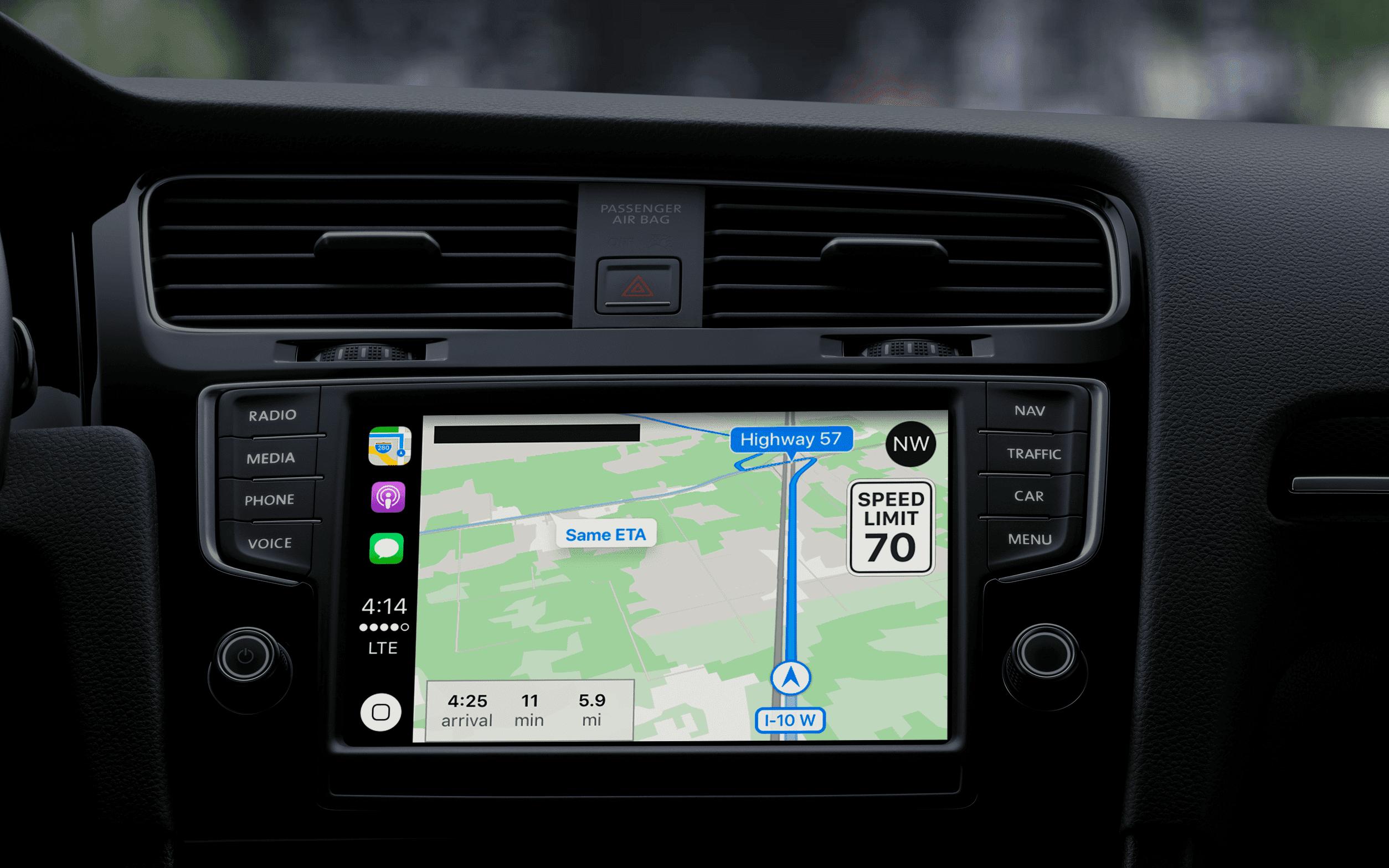 how to get apple carplay maps on car