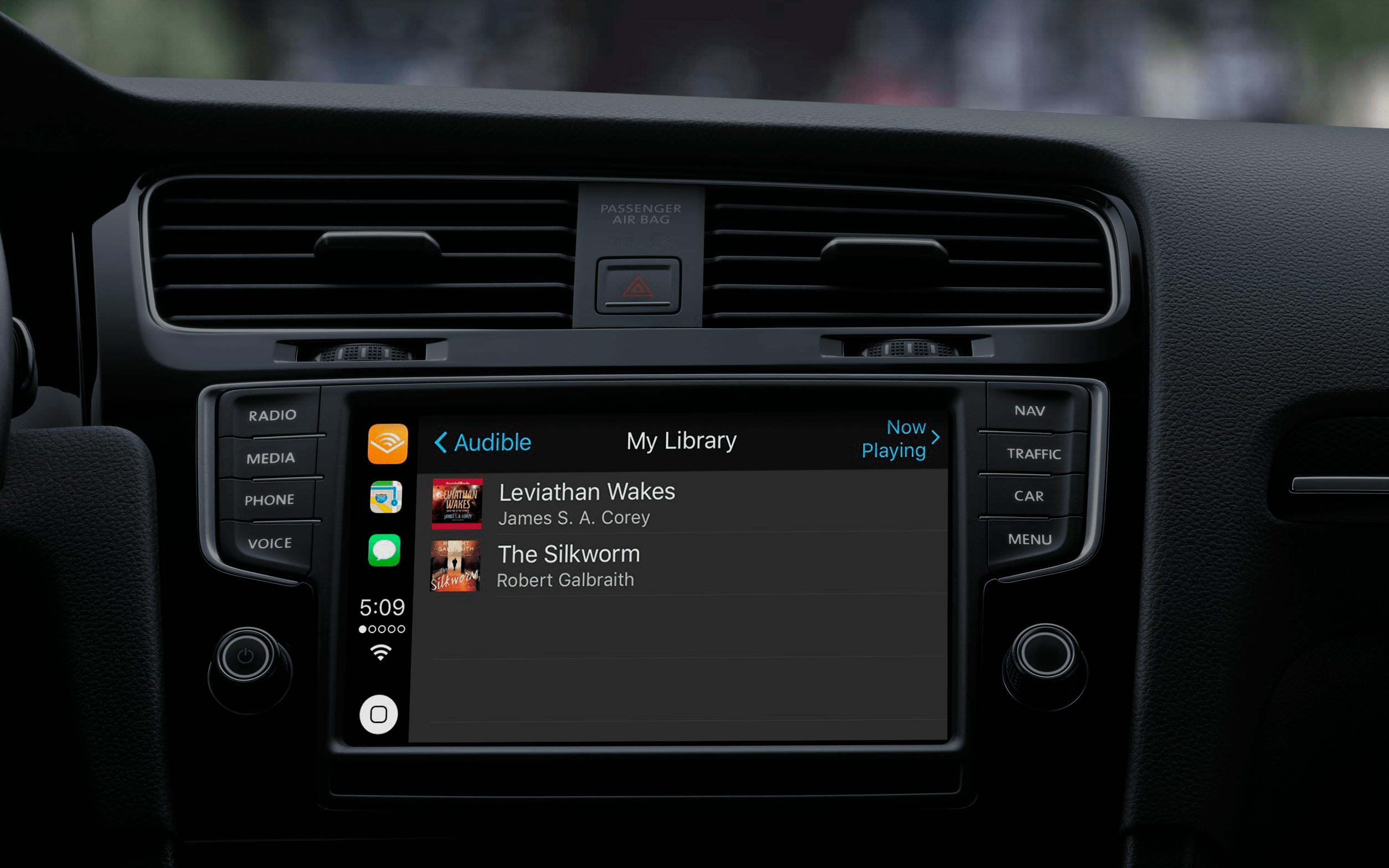 Apps supported by apple CarPlay: Audible