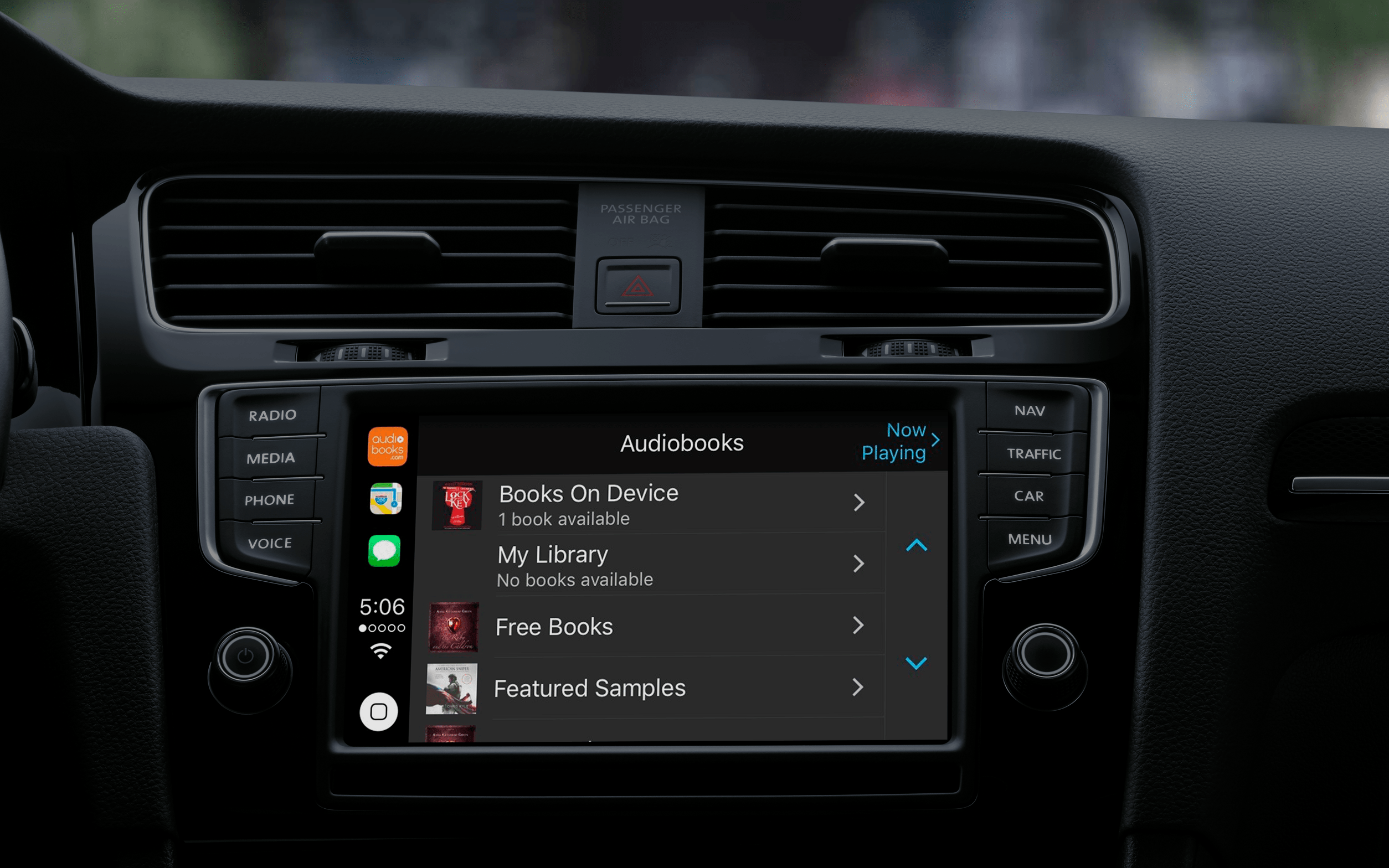 Apps supported by apple CarPlay: Audiobooks