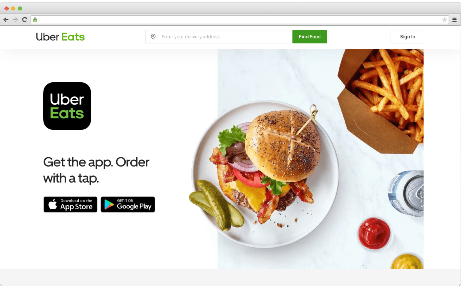 UberEats food delivery marketplace