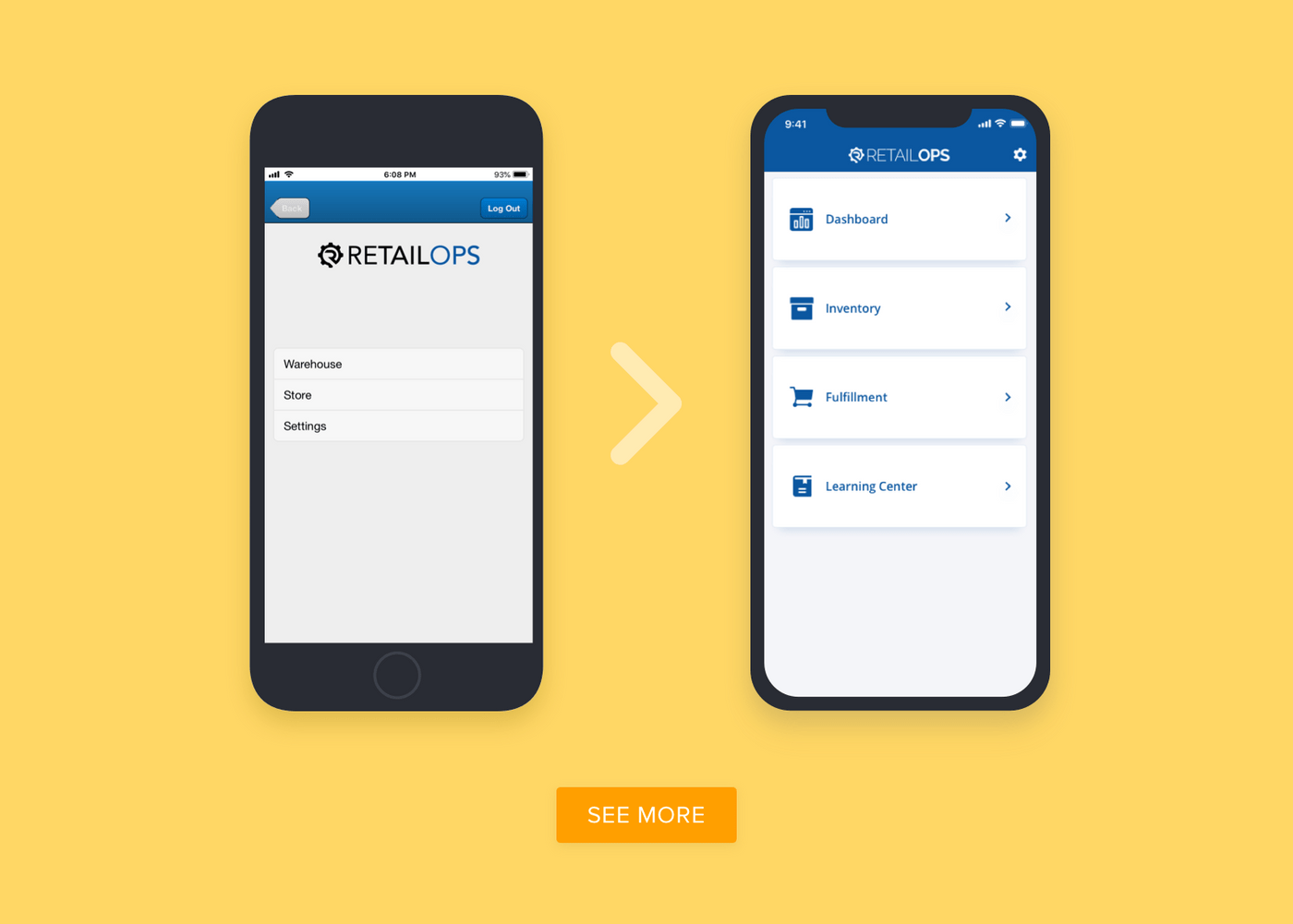 RetailOps application redesign