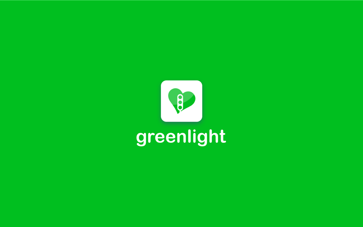 Green and white logo of GreenLight