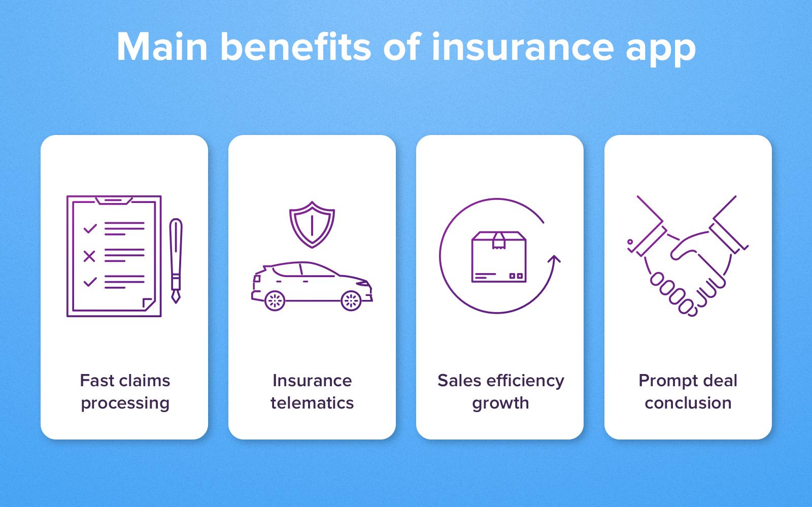 insurance app advantages