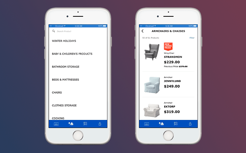 Retail mobile app: Categorization