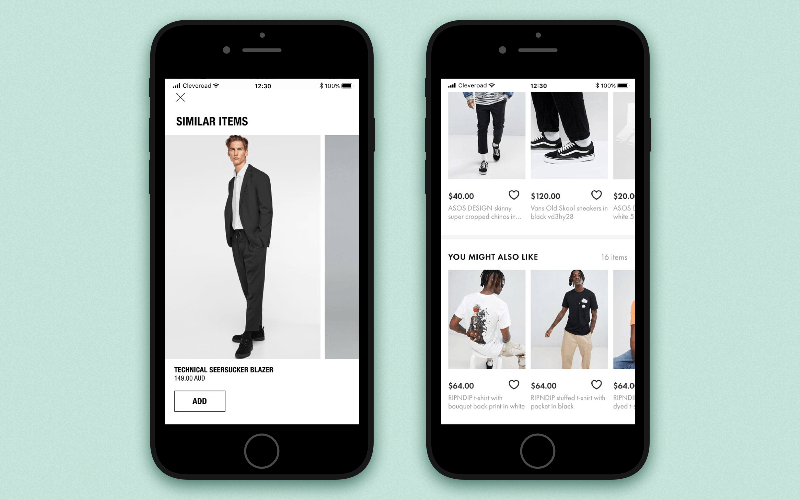 Create online store app that suggests users similar items or items they may like