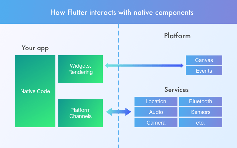 Flutter vs React Native performance: How Flutter interacts with native components