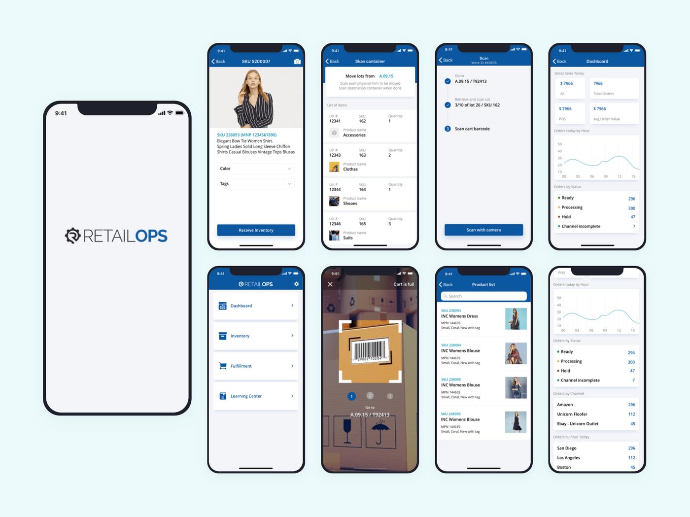 App screens design