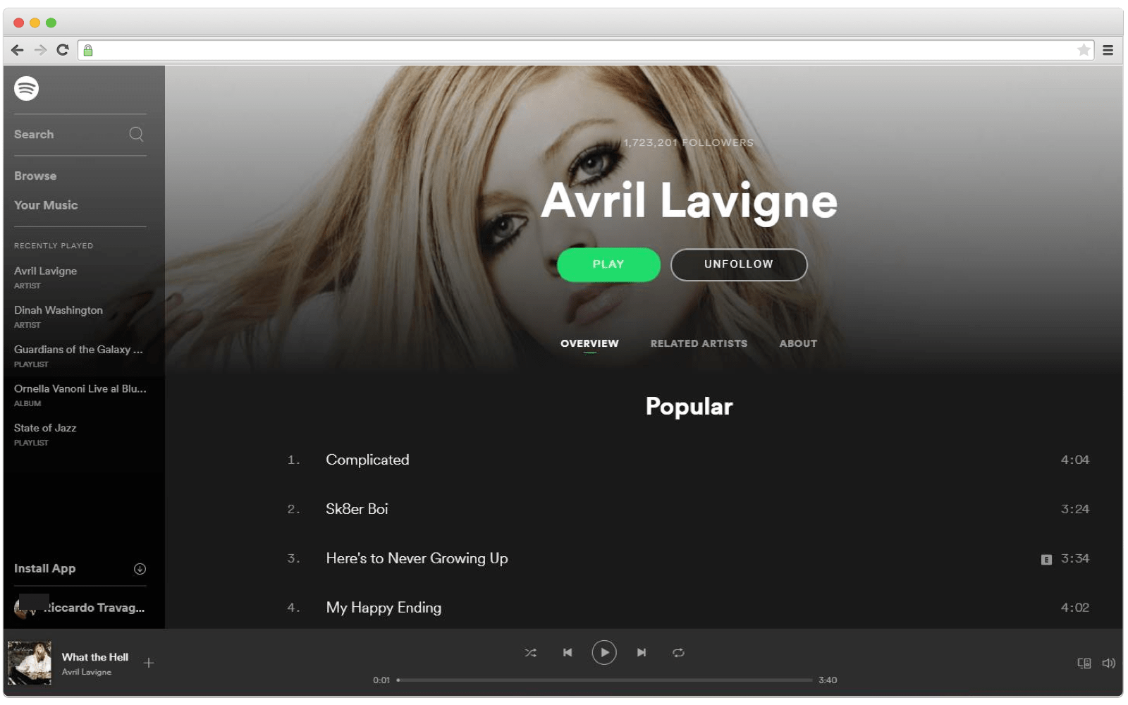 Microservices archotecture example: Spotify