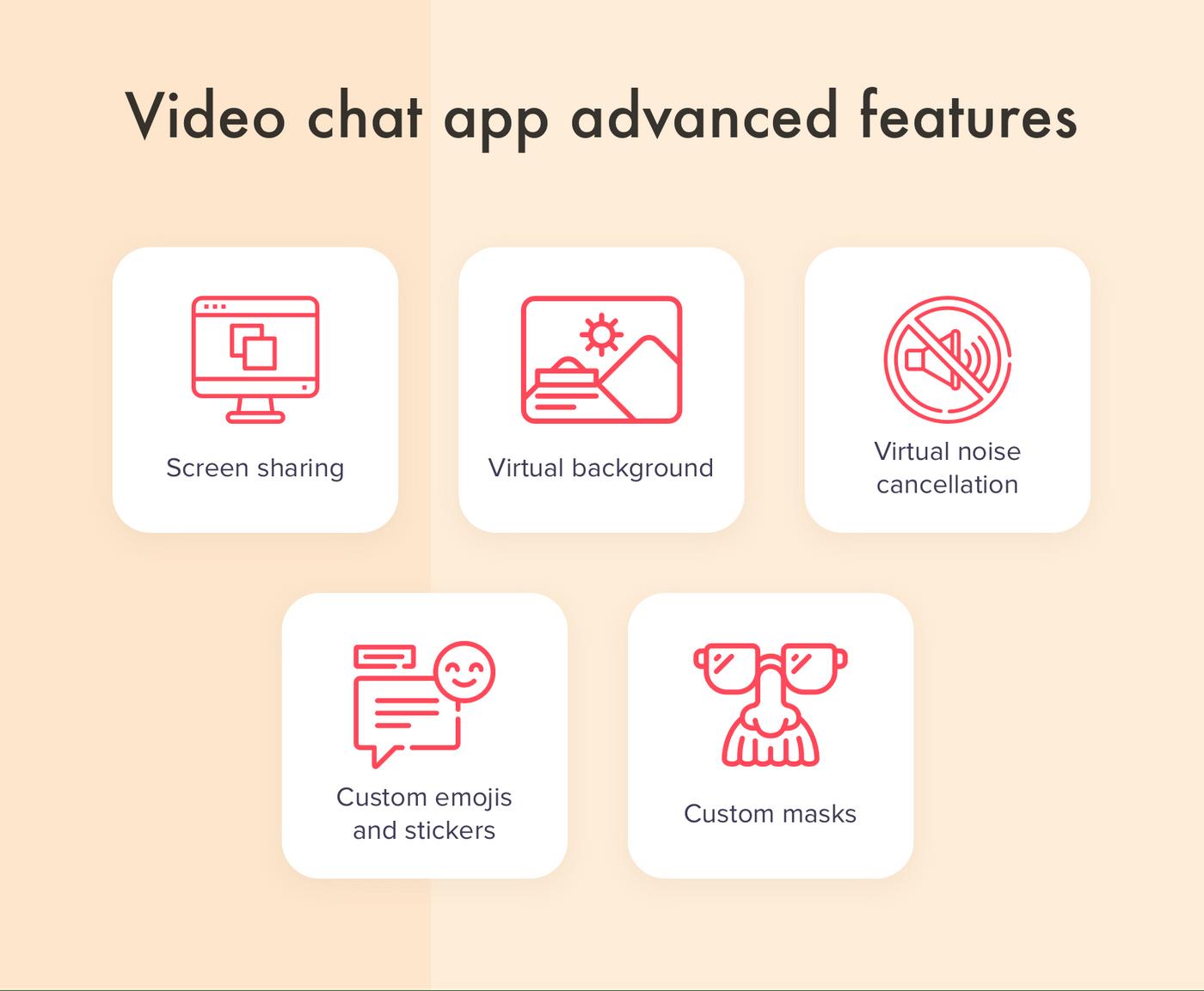 Video chat app development: advanced features