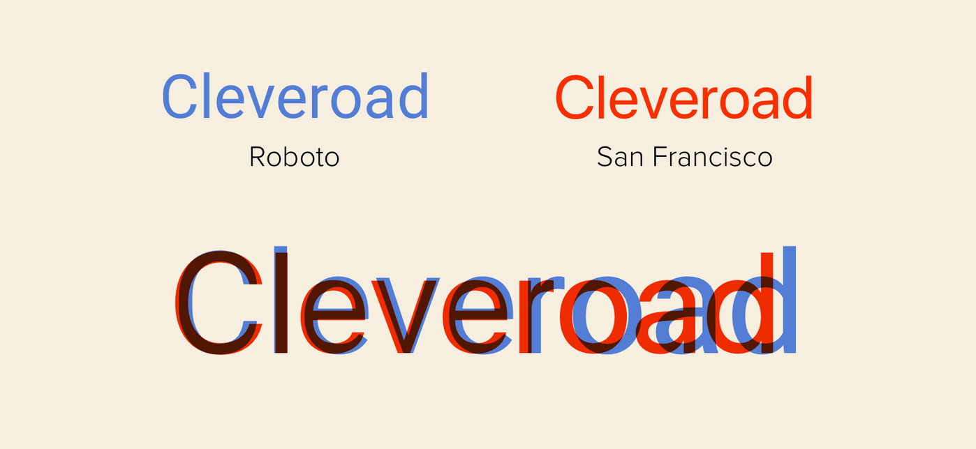 Typefaces on Android and iOS