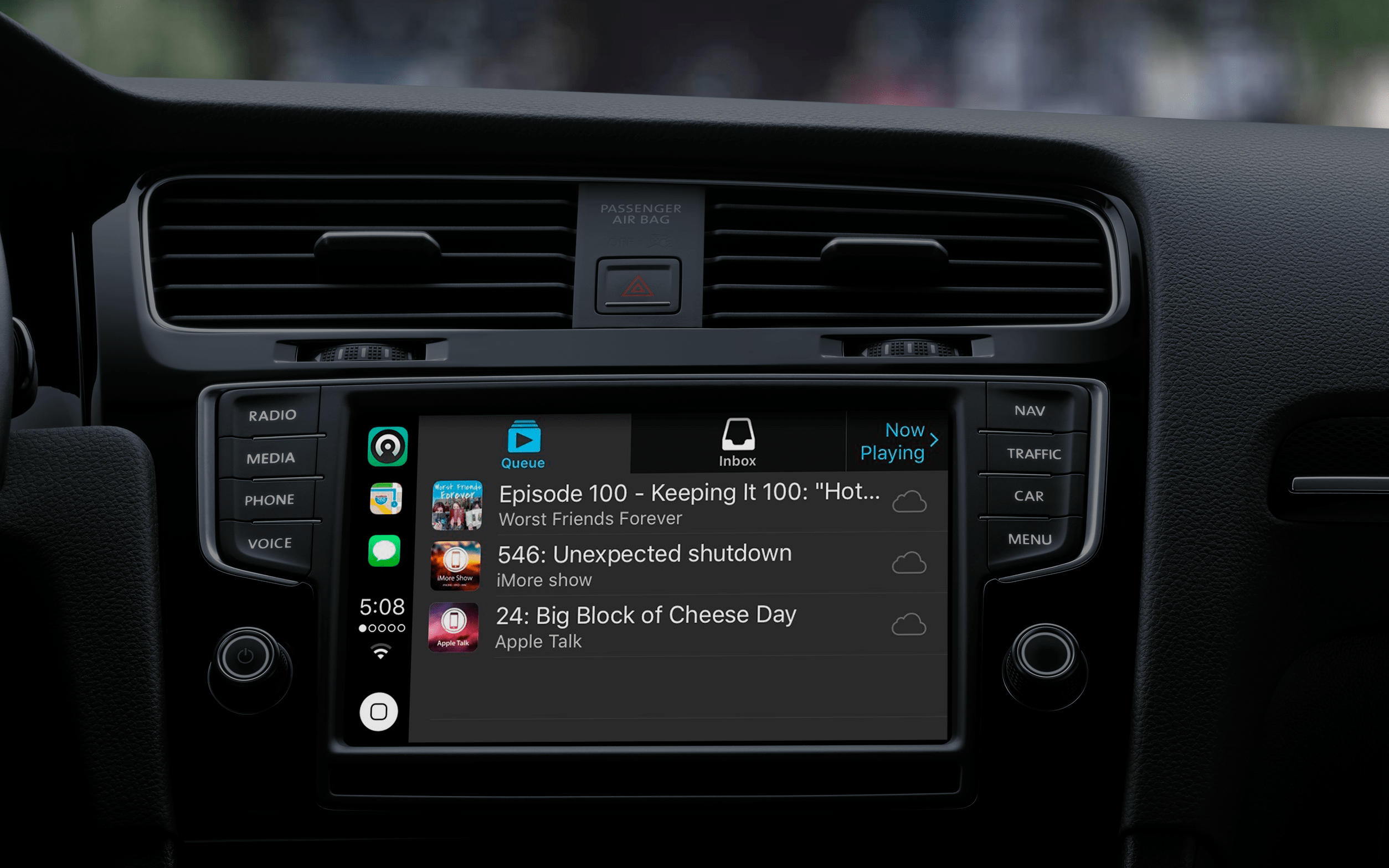 Apps supported by apple CarPlay: Castro