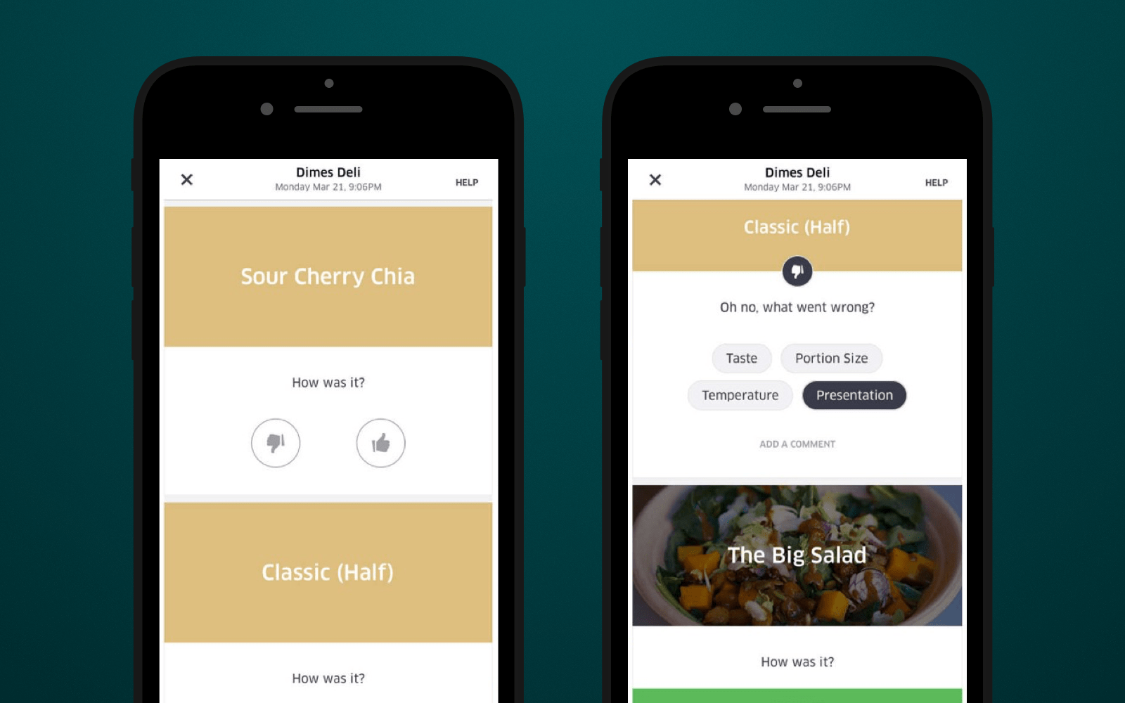 UberEats customers rate provided services