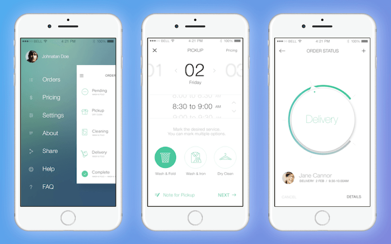 Uber for laundry: Cleanly App