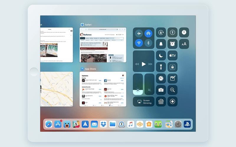 iOS 11 app switcher on iPad