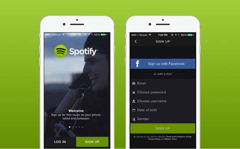 Spotify app registration