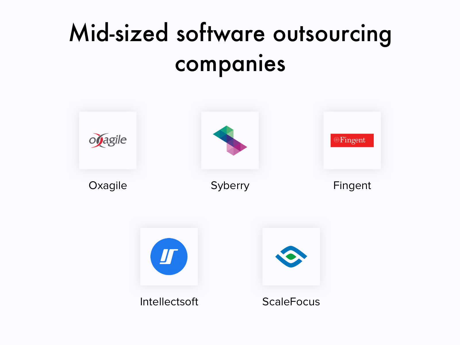 Mid-sized software development companies