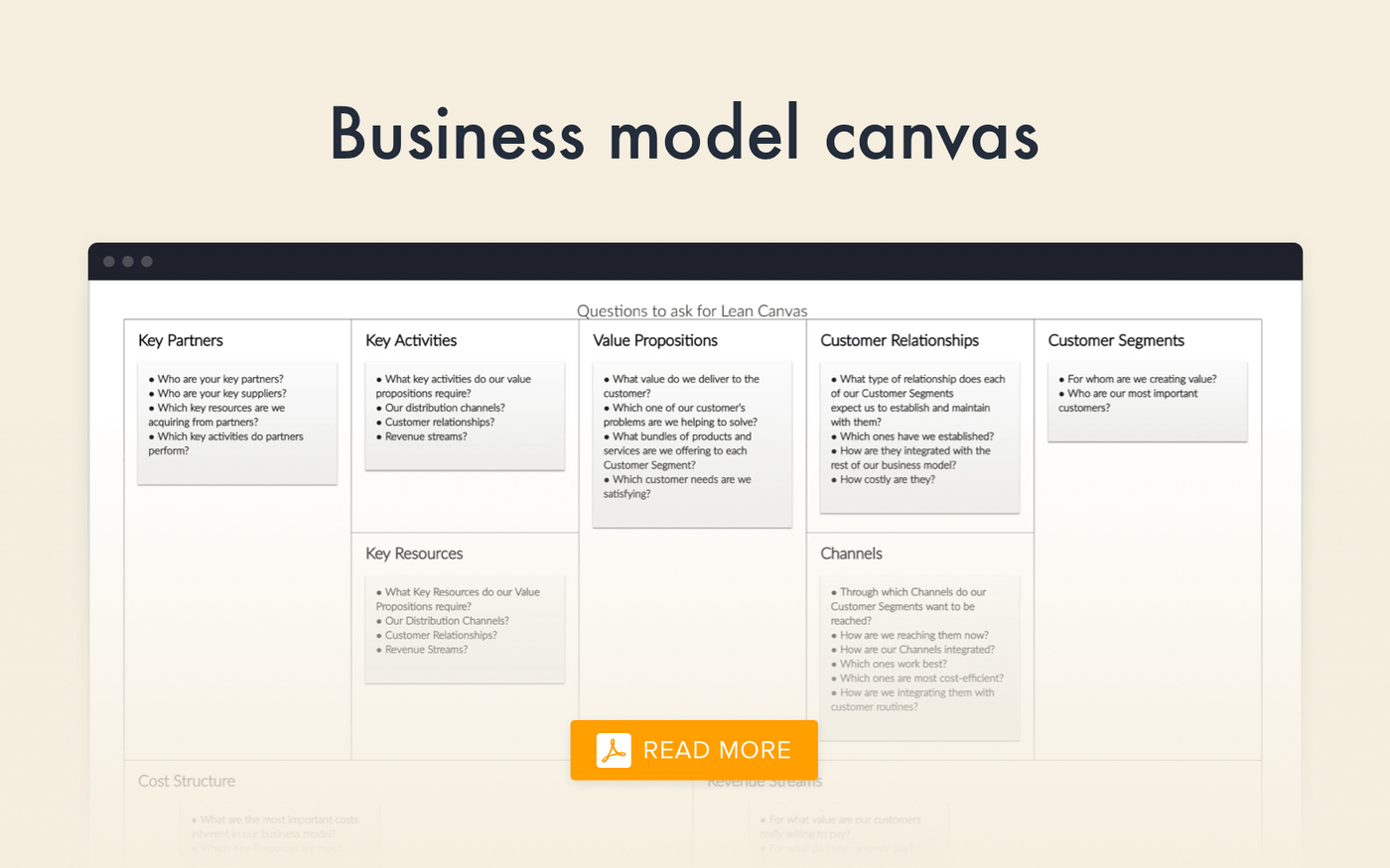Lean canvas for an Uber-like app