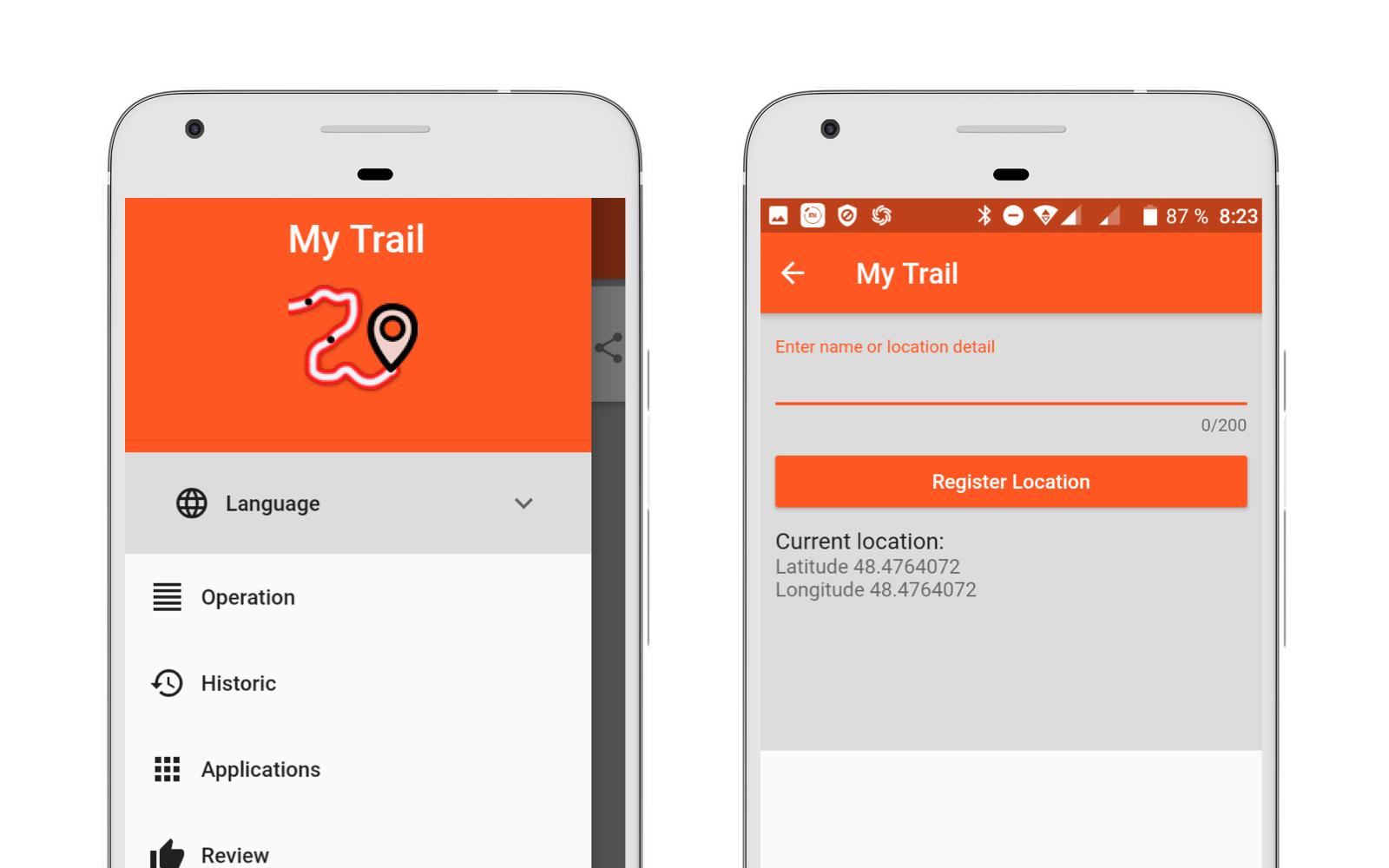 My Trail app