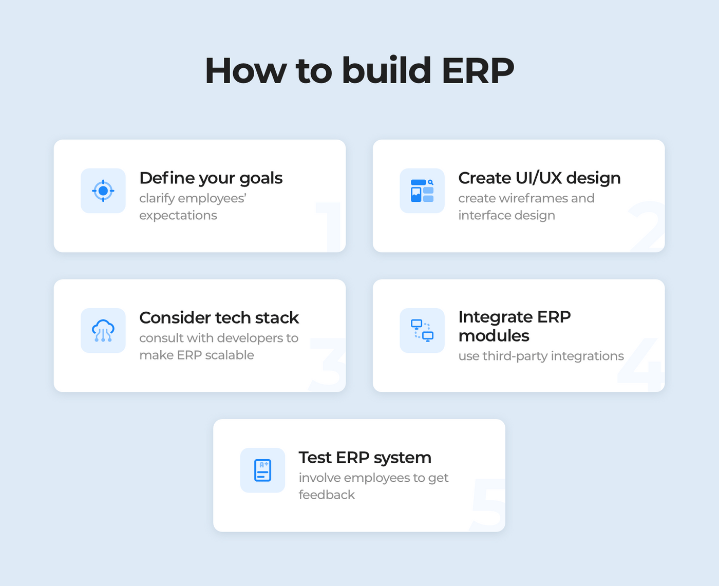 How to build ERP