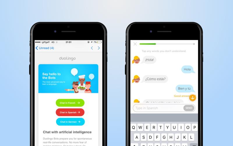 Duolingo's chatbot