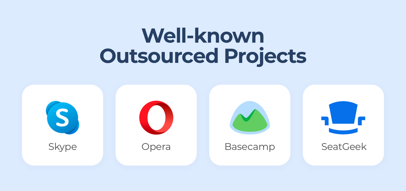 Famous outsourced projects.