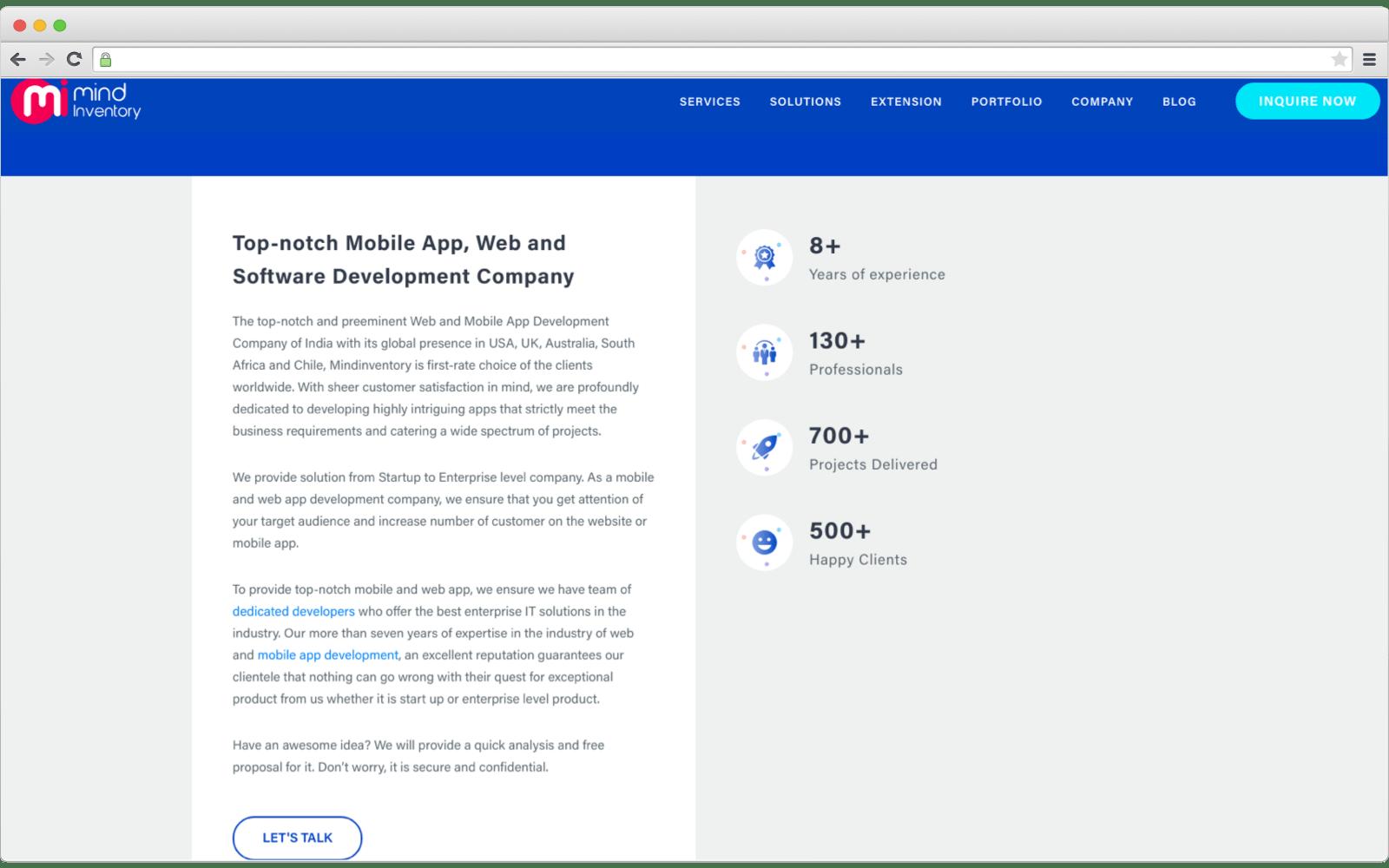E-commerce development companies - Mindinventory