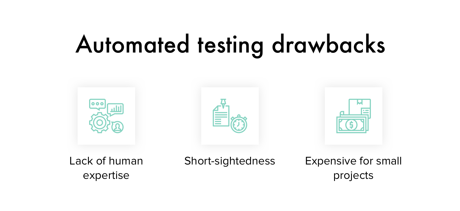 Automated testing drawbacks