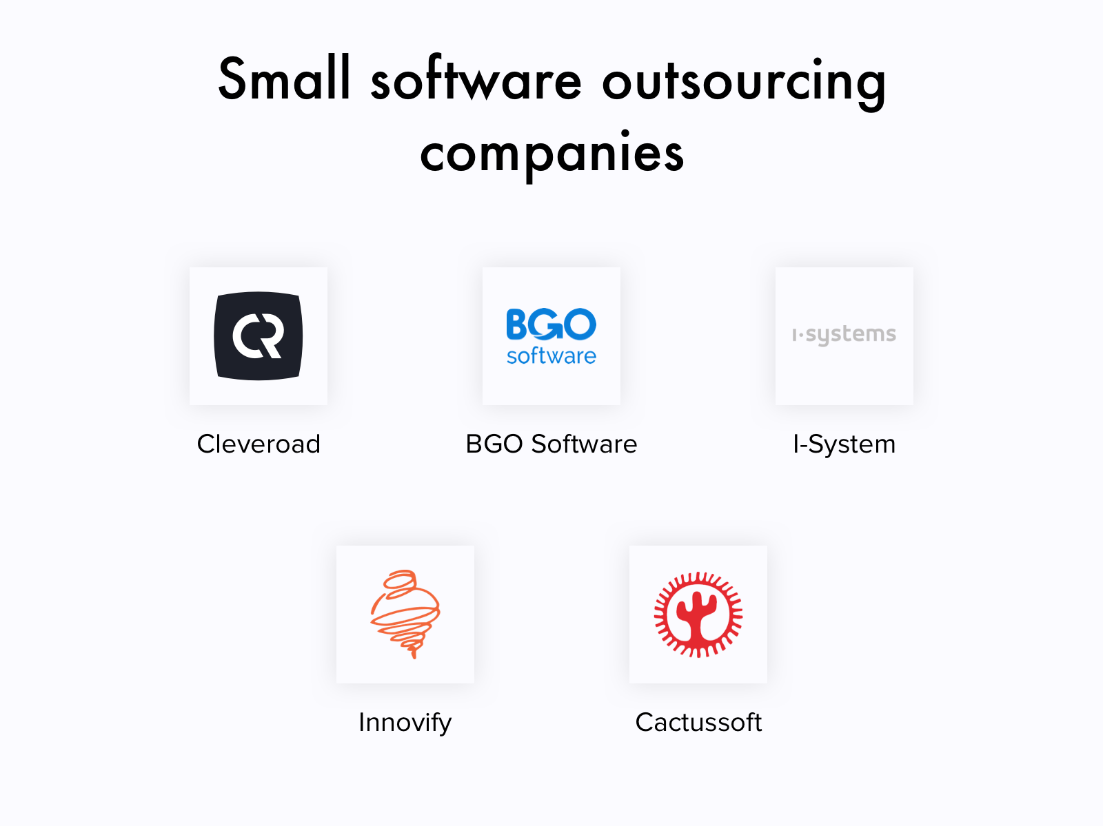Small outsourcing software development companies