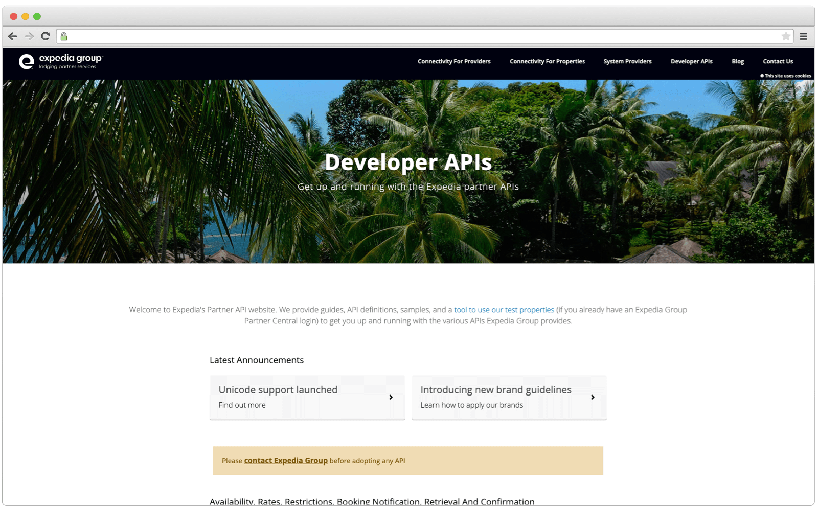 Expedia API