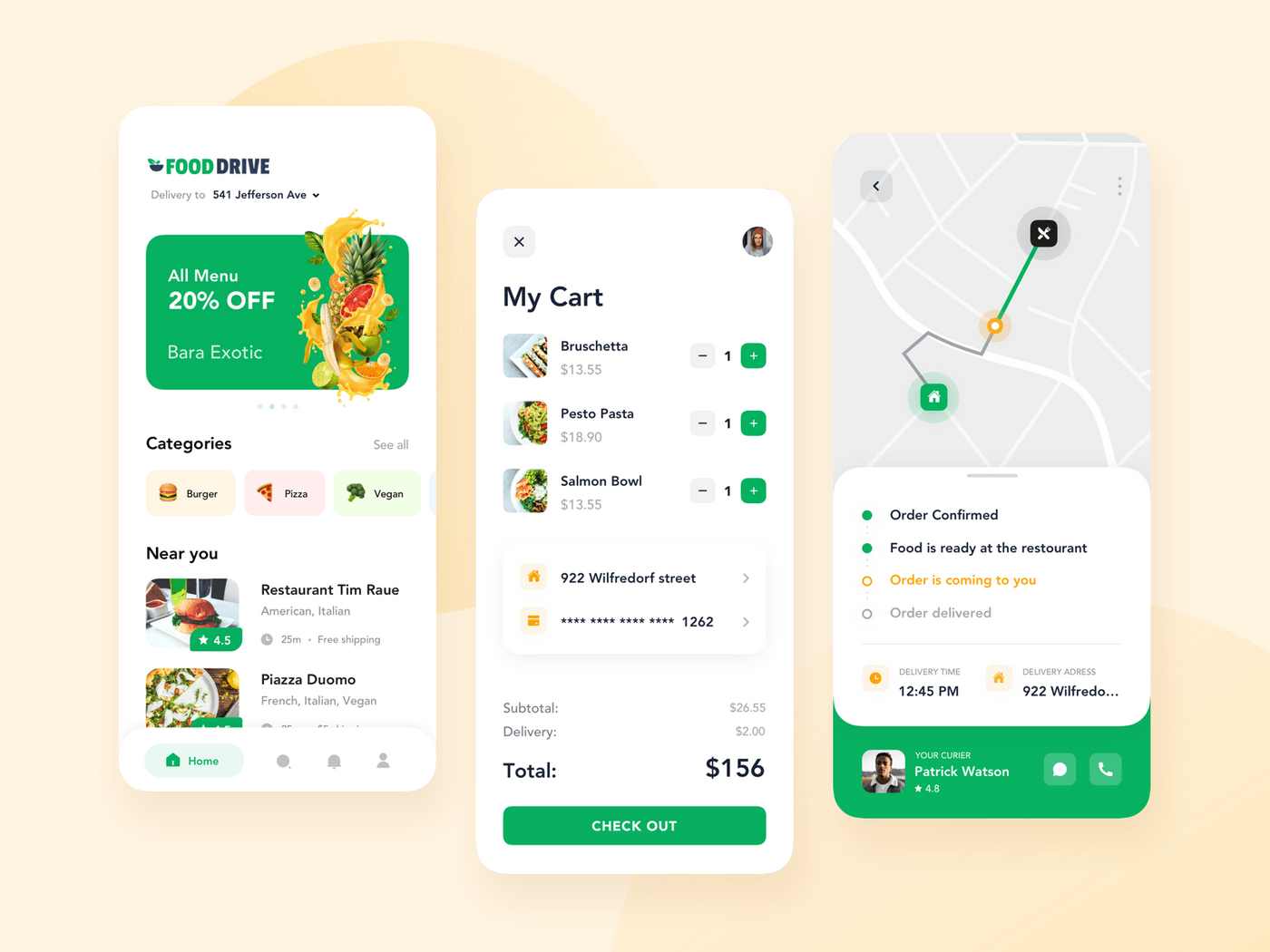 Customer app design