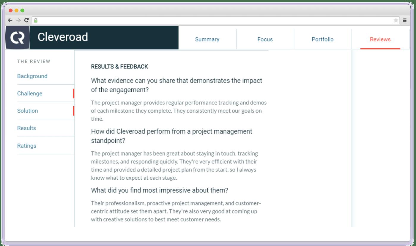 Clutch feedback example