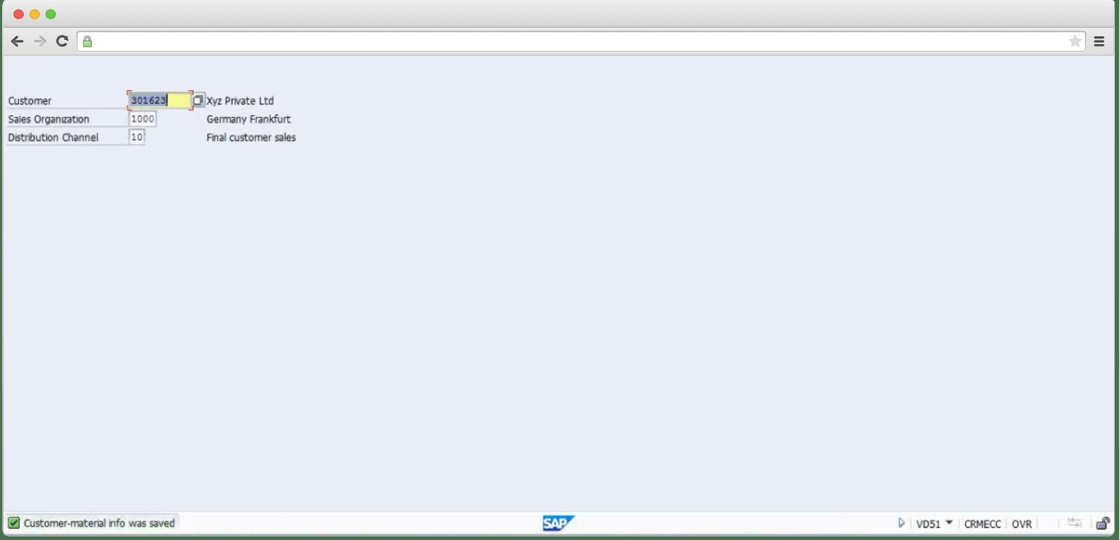 How SAP sales module looks like