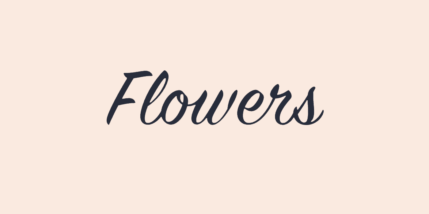 Italics font with vignettes