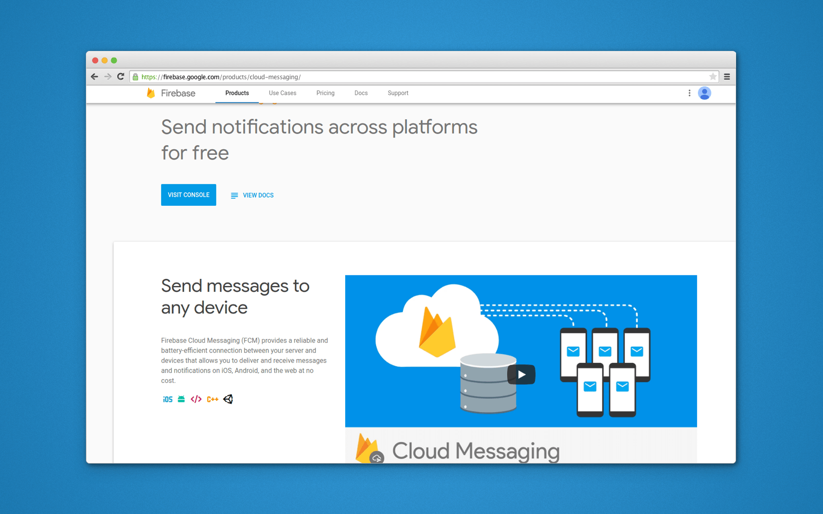 firebase push notification ios and Android